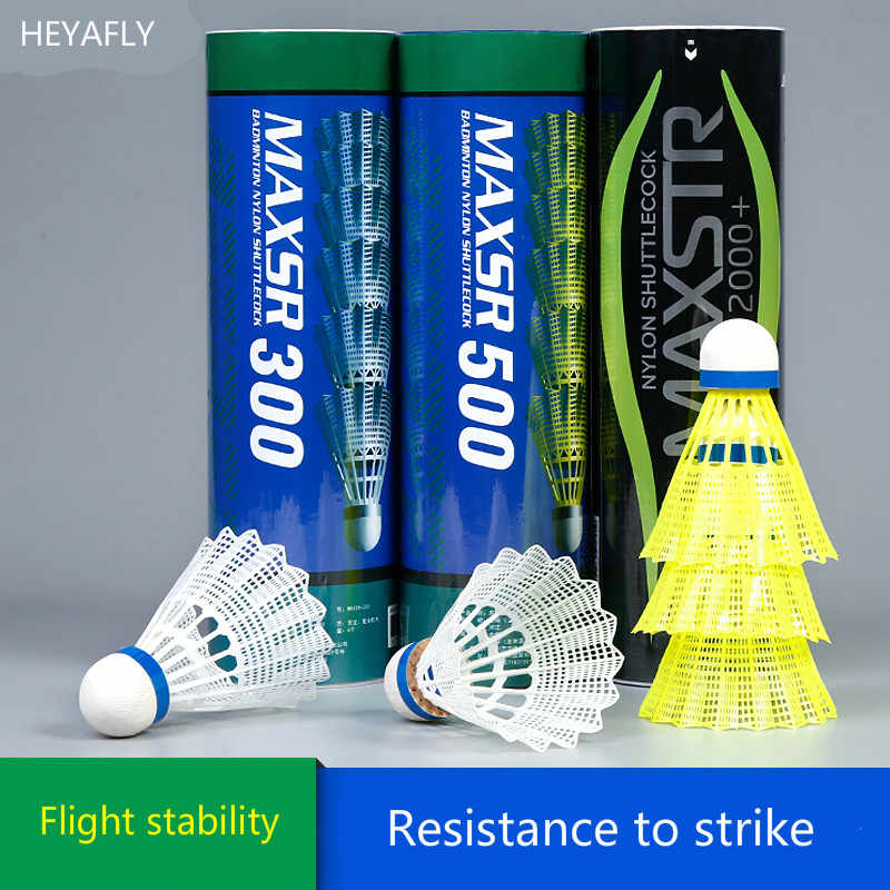 Free delivery resistant to hit the ball not bad nylon plastic badminton  flying stability training shuttlecock;