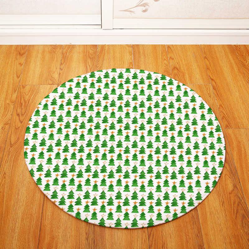 Tapetes para Sala de estar redonda Geométrica Impresso Quarto Salão de Cadeira Decorar Não-slip Capacho Tapetes De Banho Higiênico