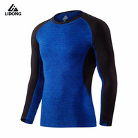 New Compression Running Shirts Underwear Long Sleeve Breathable Men Bodybuilding Base Layer Tights Basketball Cycling T