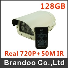 720P HD Resolution CCTV camera with 128GB sd memory, Waterproof Housing, Remote Controller, Operation Menu, Motion Detection