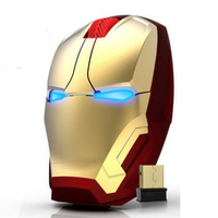 New Iron Man Mouse Wireless Mouse Gaming Mouse Gamer Mute Button Silent Click 800 1200 1600