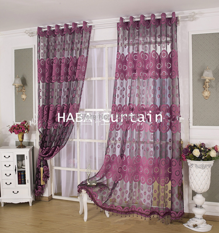 2Color Beautiful Curtain Design Ideas Tulle Voile Window Curtains And  Drapes Applique Sheer Curtain Cool For Living Room Bedroom In Curtains From  Home ...