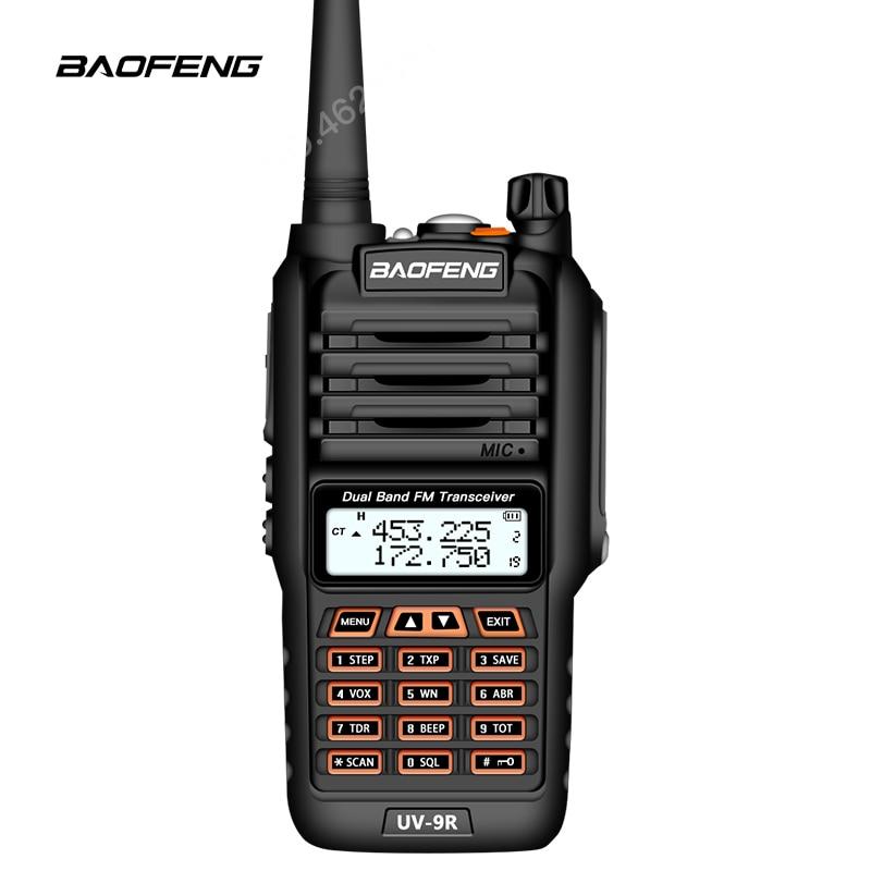 Image 5 - BaoFeng UV 9R Plus Waterproof Handheld Walkie Talkie 8Watts UHF VHF Dual Band IP67 HF Transceiver UV 9R Ham Portable Radio-in Walkie Talkie from Cellphones & Telecommunications