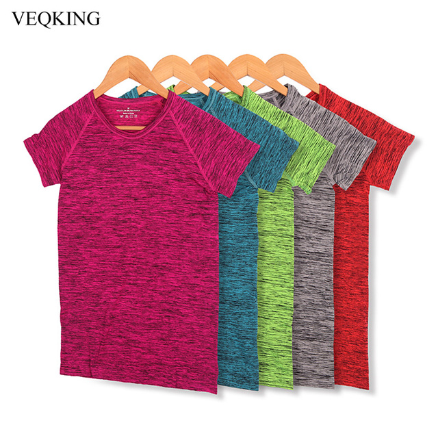 b17c0cf84db VEQKING Quick Dry Running T-Shirts for Women,S-XL Plus Size Short Sleeve Gym  Yoga Sport Shirts,Breathable Exercises Fitness Tops