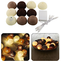 10 Aladin LED Cotton Ball Romantic Gorgeous Fairy String Light Lantern Coffee Party Wedding Decor 1M