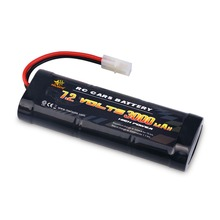 MELASTA 7.2V 3000mAh NiMH Rechargeable Battery Pack with Tamiya Plug for RC car truck boat
