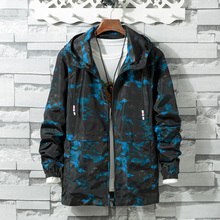 Spring Autumn Mens floral Camouflage Hoodie Jacket Men Waterproof Clothes Windbreaker Coat Outwear plus size XS-8XL