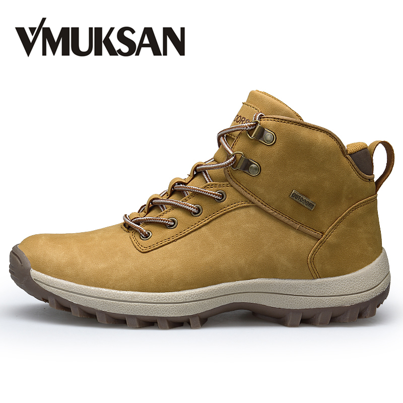 VMUKSAN Brand Men Boots Big Size 39 46 Men Spring Boots Lace Up Casual Autumn Boots