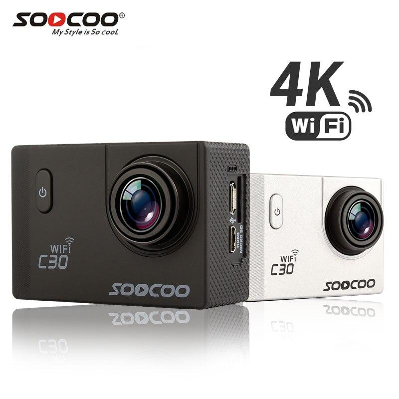 SOOCOO C30 C30R 4 K Cámara de Acción Wifi Gyro Novatek96660 30 M impermeable ajustable ángulos de cámara del deporte Cámara de