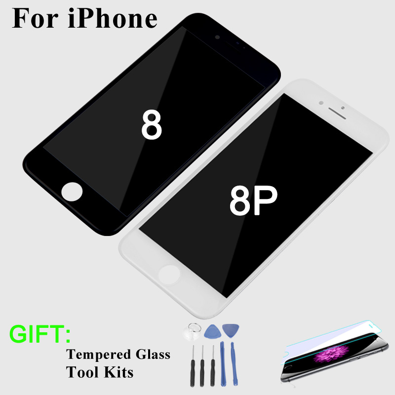 High Quality Screen for iPhone 8 LCD Display 3D Touch Screen Assembly Replacement No dead pixel