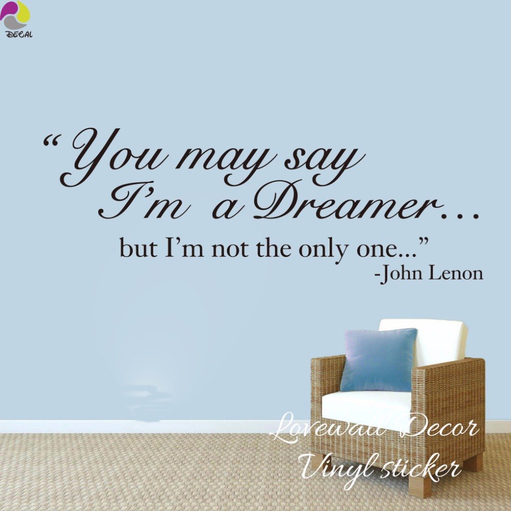 Awesome The Beatles Song Lyrics Wall Sticker Living Room John Lennon Dreamer  Inspiration Song Lyrics Wall Decal ...