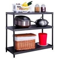 1 черный слой пространство регулируемая стойка хранения многослойные металлические для хранения стенд Multiuse Организатор кухня стойки Heavy Duty