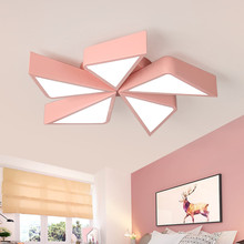 LICAN Pink blue windmill shape Matel Cartoon Ceiling Lights For Children Baby boys girls room Dimming lamp for home