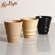 300ml Coffee Cup Vintage Wooden Tea Milk Drinking Portable Wood Cafe Mug Best Office Gift