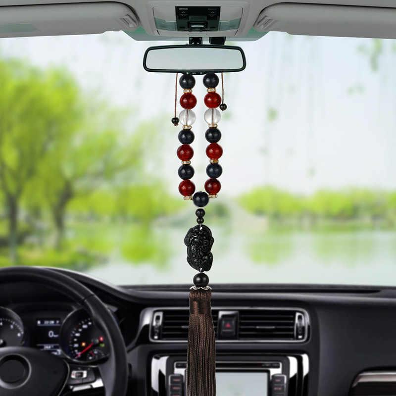 سيارة الحلي بوذا الخرز شرابات السيارات الداخلية مرآة الرؤية الخلفية معلقة قلادة الأكشاك الديكور TD326