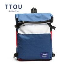 ブランドティーンエイジャーファッション · キャンバスバックパックスクールバックパック旅行バッグ女性の大容量ブランドデザイン女の子のため Ttou