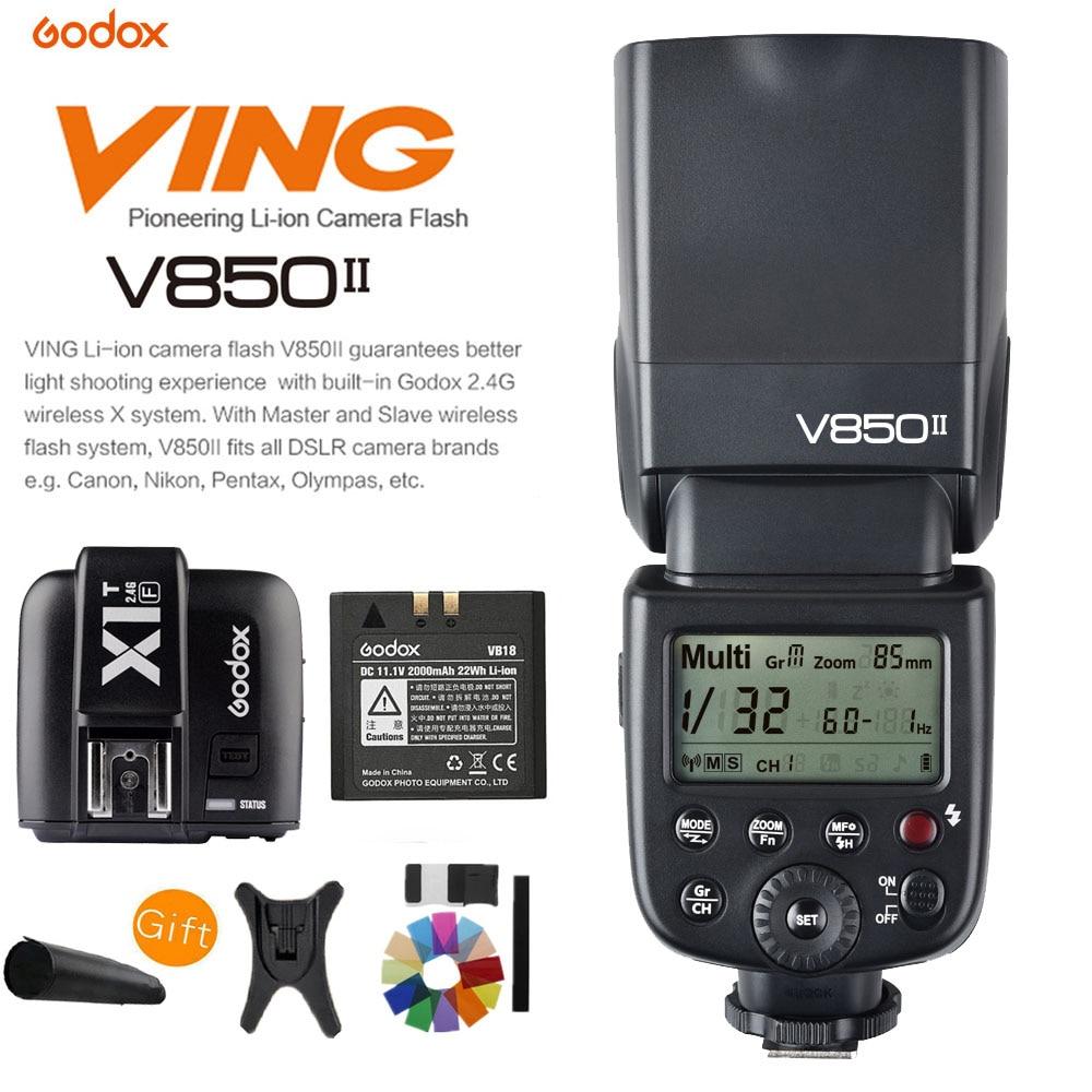 Godox V850II GN60 HSS 2 4G Беспроводная X СИСТЕМА Speedlite литий-ионная батарея вспышка + X1T-F триггер для камеры Fujifilm DSLR