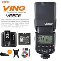 Godox v850ii GN60 HSS 2.4 г Беспроводной x Системы Speedlite литий ионный Батарея вспышка + x1t f flash триггер для Fujifilm DSLR Камера
