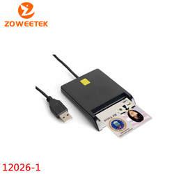 Zoweetek 12026-1 Смарт-кардридер DOD военный USB общий доступ CAC EMV смарт-карта USB ридер для SIM/ATM/IC/ID карты