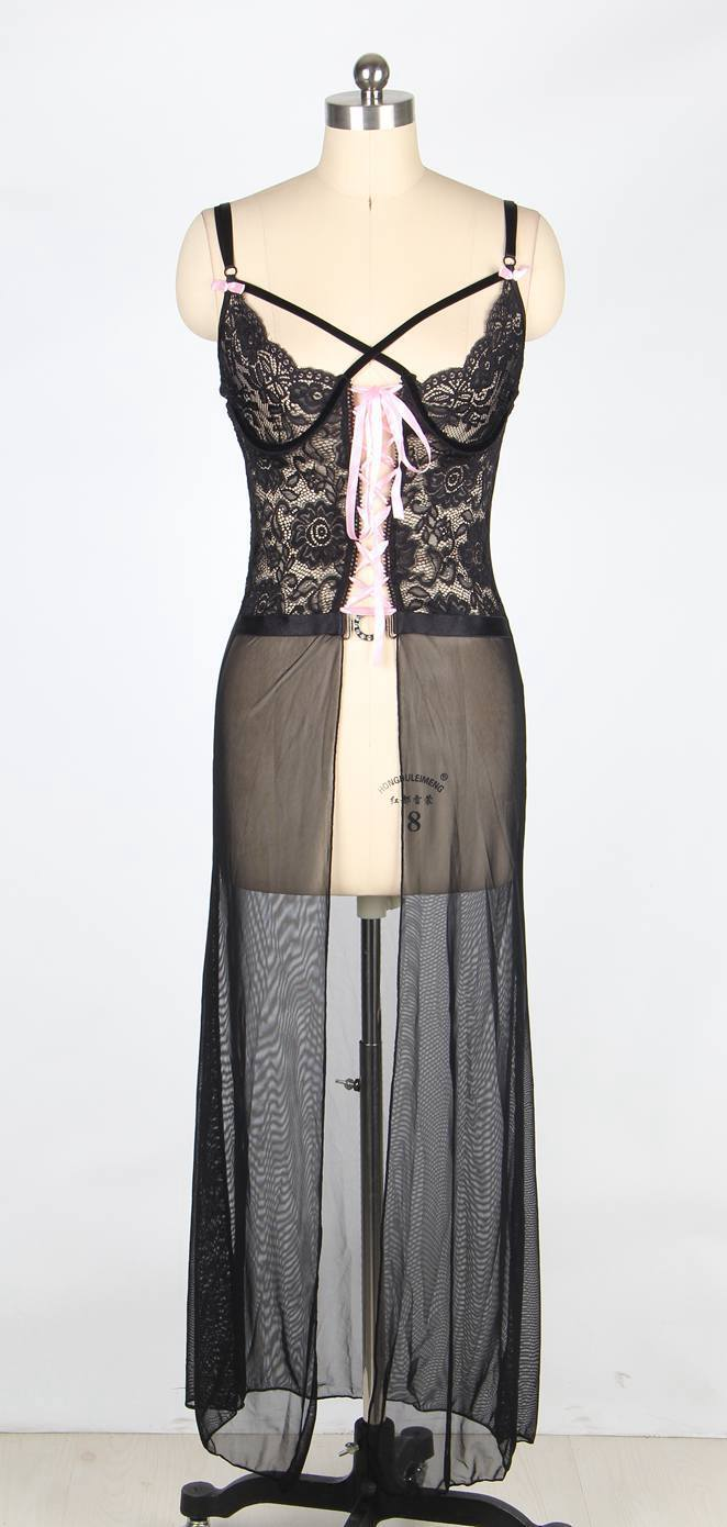 Romantic stripper clothes purple black sheer long night gown hammock ...
