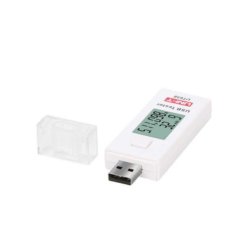 UNI-T UT658 USB Digitale Stroom Spanning Testers U Disk Laders Voltmeter Ampèremeter Capaciteit Tester MAX 9V Data Opslag Backlight