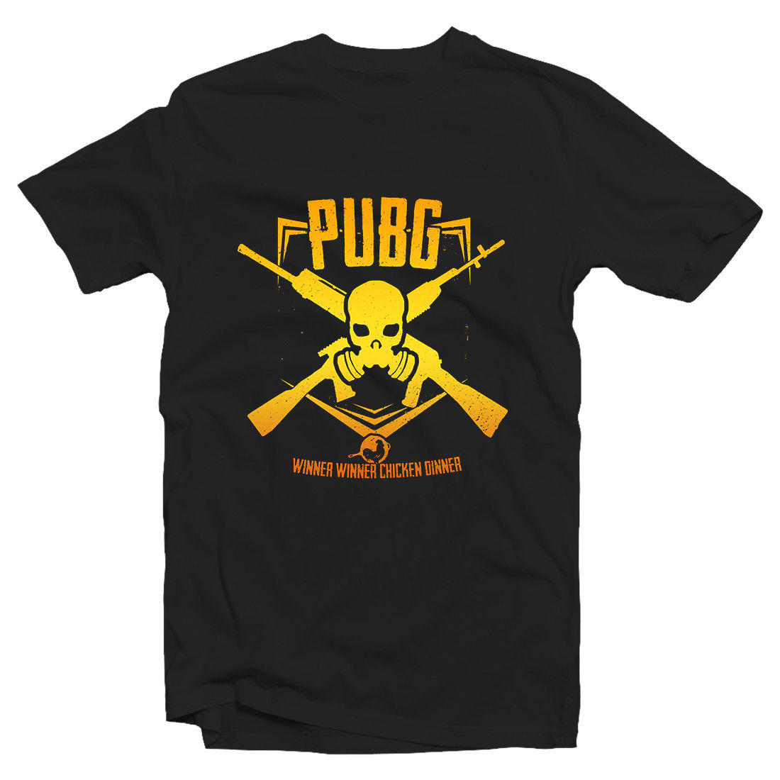 Winner Winner Chicken Dinner Tshirt SKULL- PUBG Player Unknown 100% cotton tee shirt,  tops wholesale tee tops wholesale tee