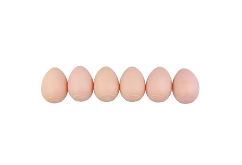 New Creative Fake Egg Toys 6 PCs Rubber Nest Chicken Bantam Hen Joke Prank Dummy Fake Magic Eggs Joking Toy TY