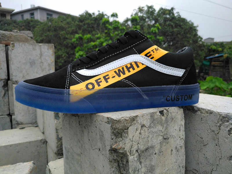 b9fbb3d1ae70 ... VANS CE Y62 Vans Old Skool X Off-White Classic Men and Womens Sneakers  canvas ...