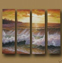 MODERN ABSTRACT Home WALL ART OIL PAINTING ON CANVAS sea shore  ftree free shipping no framed