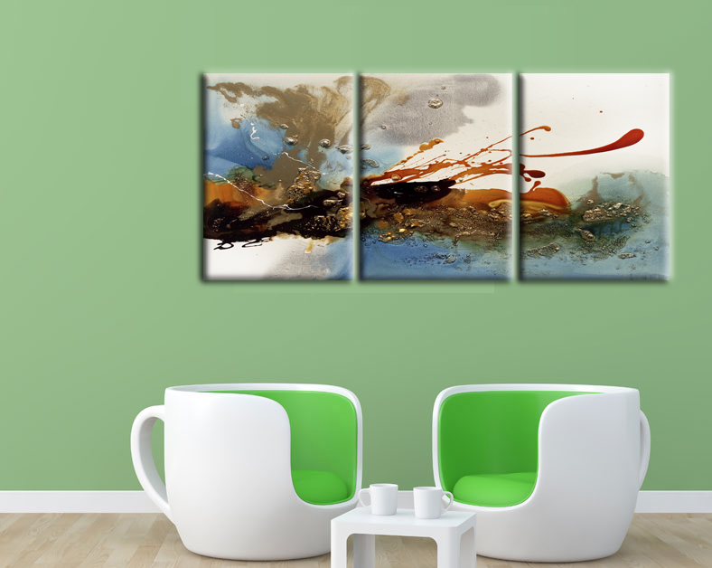 3 Pcs Colorful Clouds Abstract Painting Print On Canvas