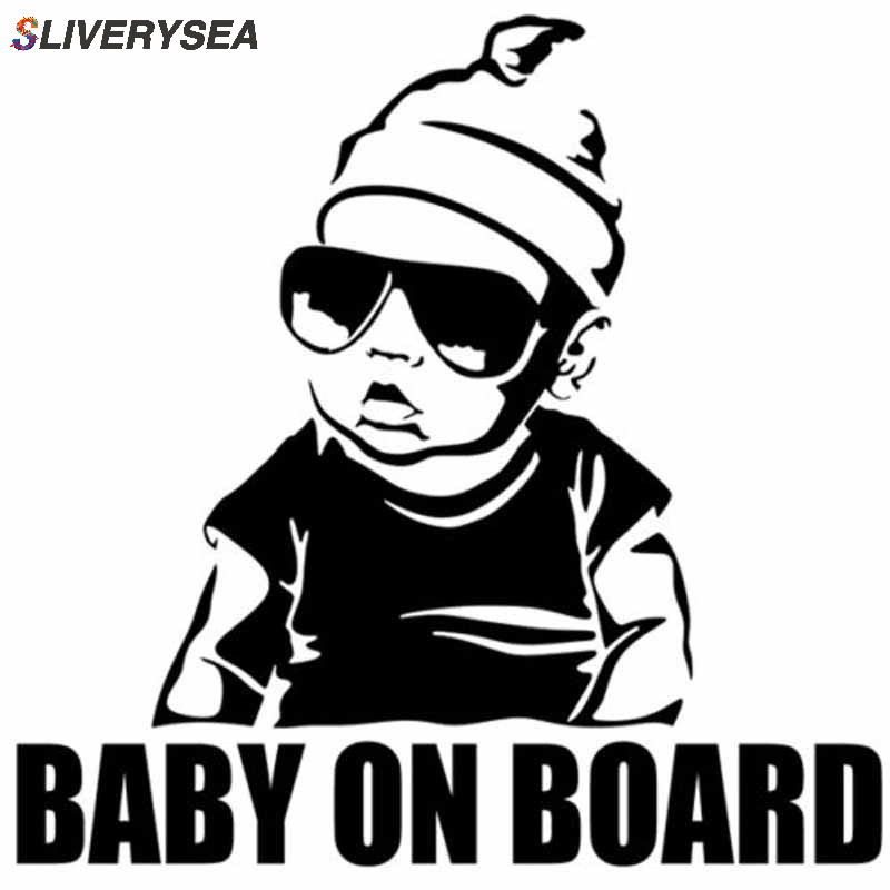 SLIVERYSEA BABY ON BOARD Creative Fashion Car Sticker Tail Warning Sign Decal-in Car Stickers from Automobiles & Motorcycles