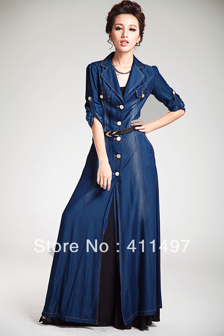 Aliexpress.com : Buy New Designer Tencel Silk Long Maxi Denim
