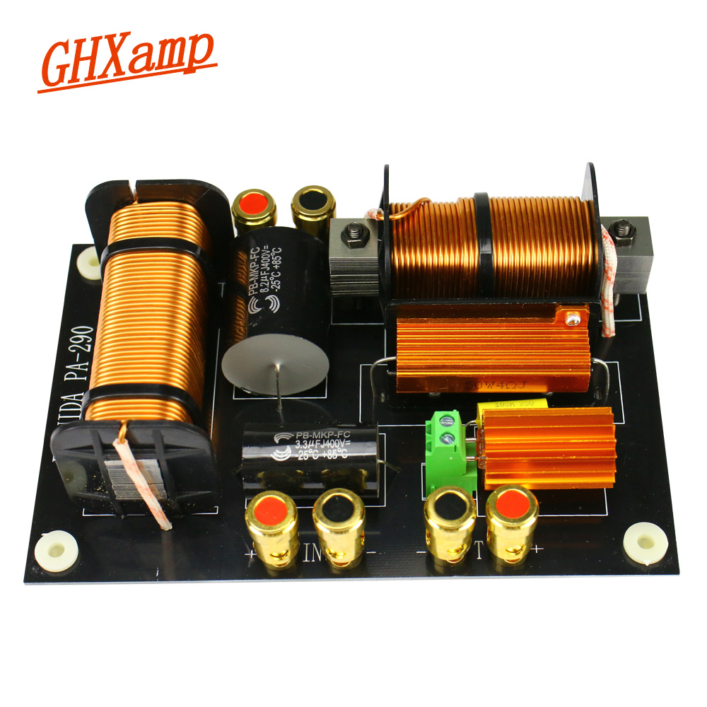 Ghxamp Tweeter Woofer Speaker Crossover 600W-800W Treble Bass 2 Way Crossover 2000Hz For 12-15 Inch Stage Speakers 1pc