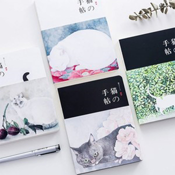 New Blank Vintage Sketchbook Diary Drawing Painting 80 Sheets Cute Cat Notebook Paper Sketch Book Office School Supplies Gift moetron cute sketchbook white paper notebook drawing book spiral sketch book with blank pages