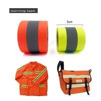 5 см X 5 м флуоресцентный желтый и флуоресцентный оранжевый Предупреждение ющая лента для безопасности пошив одежды на