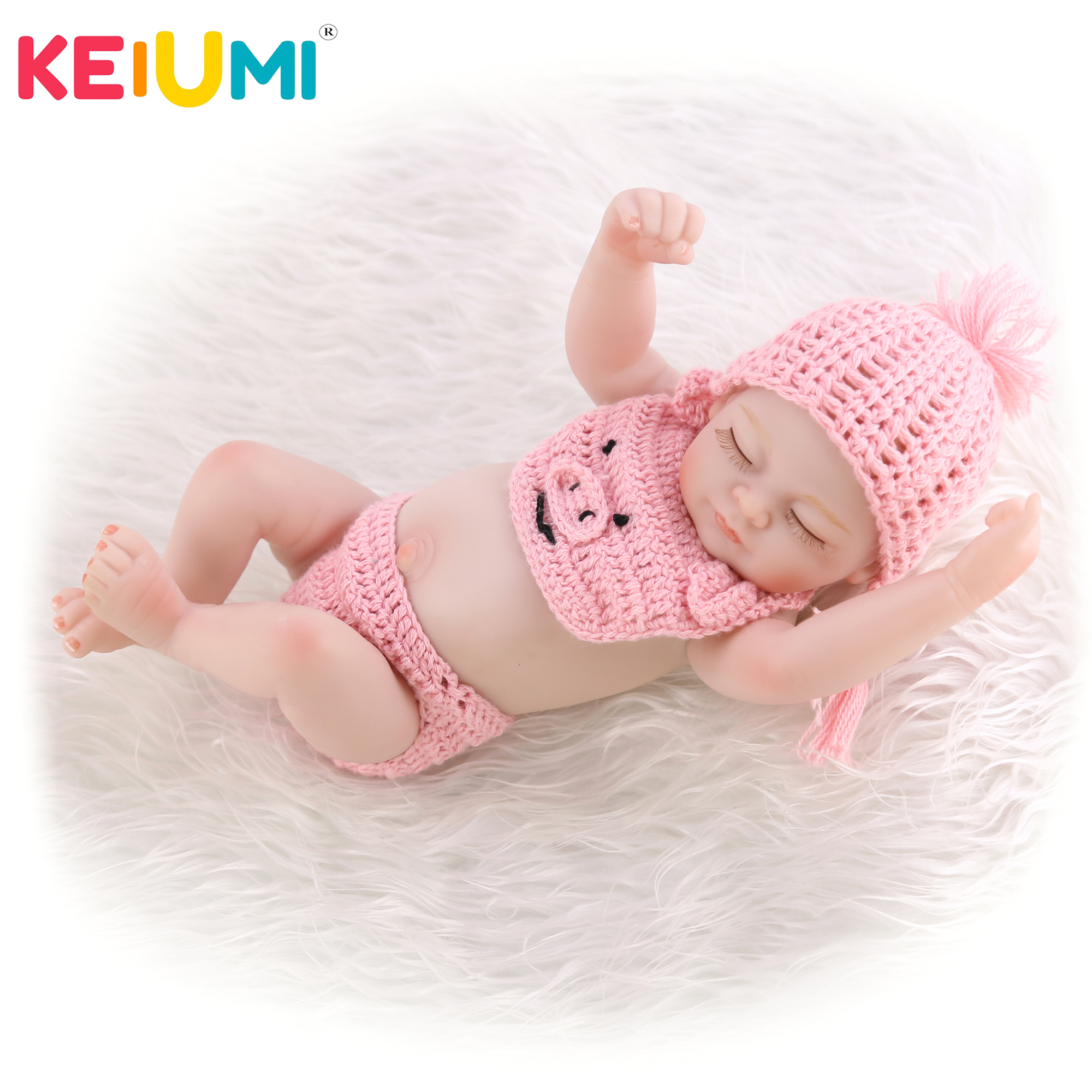 Pink Romper Set Outfit Clothing for 10-11inch 25-27cm Reborn Baby Girl Doll