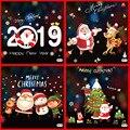 1 шт. Рождественская Снежинка оконная наклейка зимняя Navidad Настенная Наклейка s детская комната рождественские украшения для дома Новогодняя наклейка s - фото