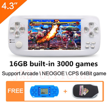 4 3 inch 16GB 64Bit PAP K3 build in 3000 game Handheld Video Game Console for
