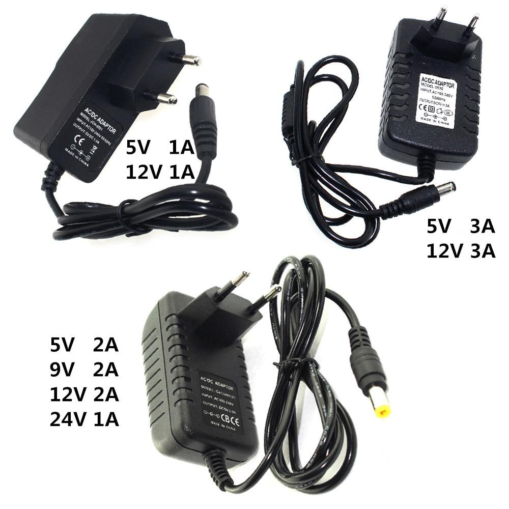 Переменного тока постоянного тока 5В 9В 12В 24В Мощность адаптер 1A 2A 3A адаптера переменного тока 220 В до 12 В Питание 5V 24 V универсальный импульсный источник 220 В до 12 В 5 24 вольт