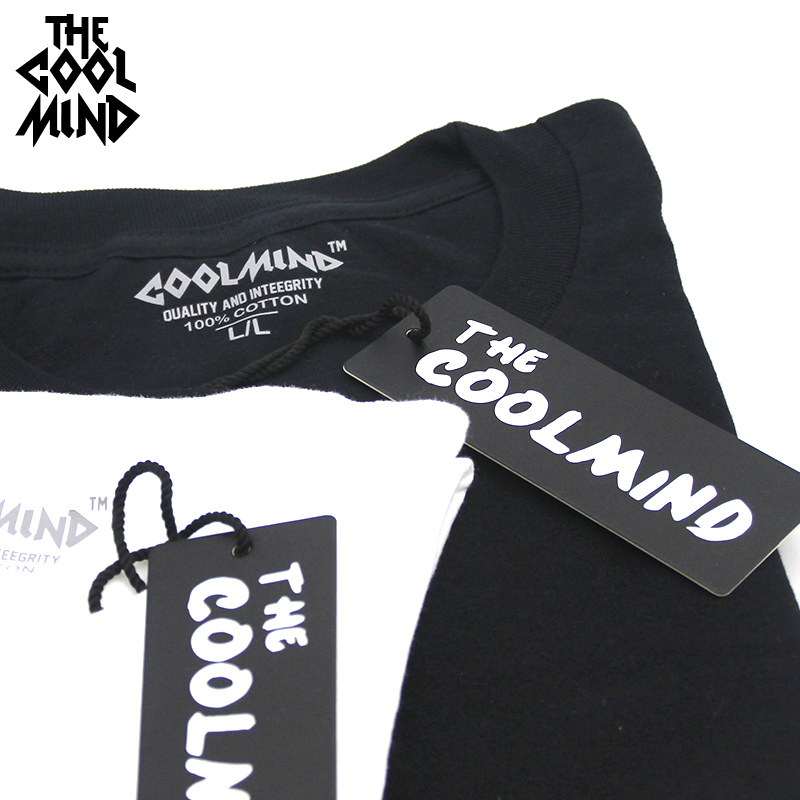 COOLMIND MU0211A casual short sleeve 100% cotton funny punk rock Men T shirt o-neck smile DJ printed men T-shirt tops tee shirts
