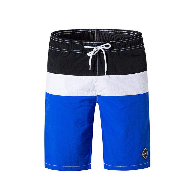 Quick Dry Summer Solid Casual Beach Wear Patchwork Loose Men's Board Shorts Elastic Waist Surf Shorts Sports Short Pants 2019