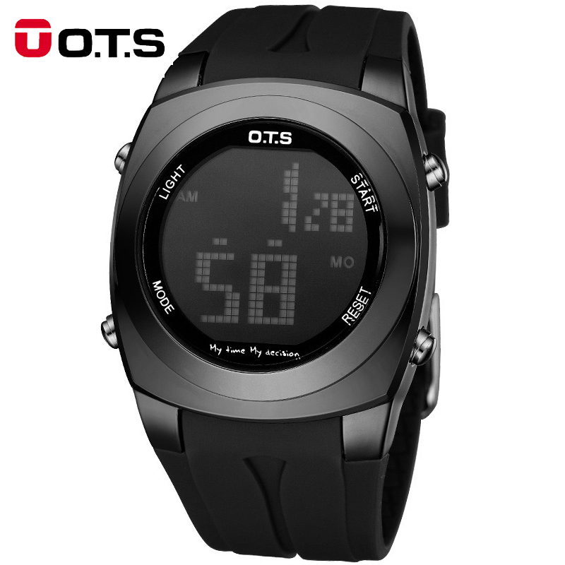 OTS Digital Sport Watches for Men Dive Led Male Sport Clock Outdoor Running Army Shockproof Waterproof Electronic Watch Men