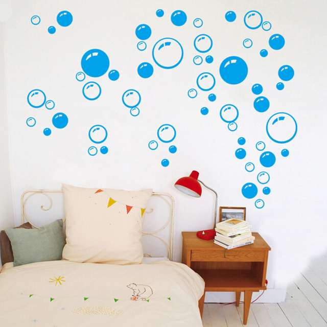 2 pcs Amovible Étanche Bulles Motif Wall Sticker Art Decal pour ...