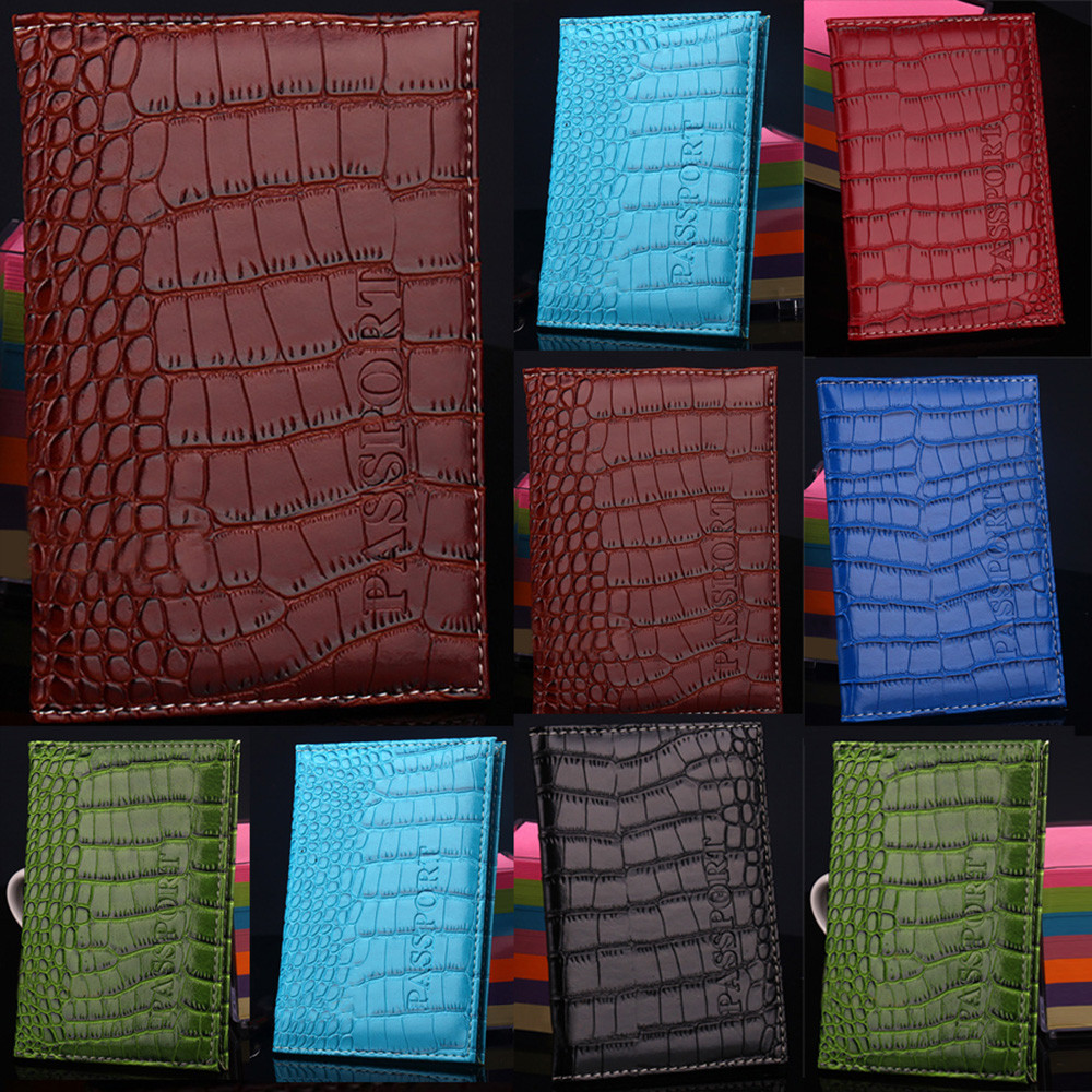 Coneed Unisex The Hot Crocodile Pattern Travel Passport Case ID Card Cover Holder Protector Organizer Wallet 2019 Mar22 P40