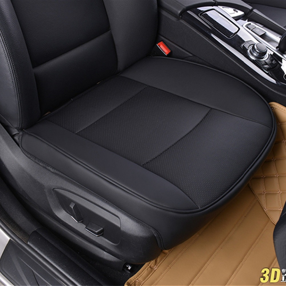 PU Leather Deluxe Car Seat Cover Seat Protector Cushion Black Car Front Seat Cover Universal for bmw benz audi vw ford hyundai