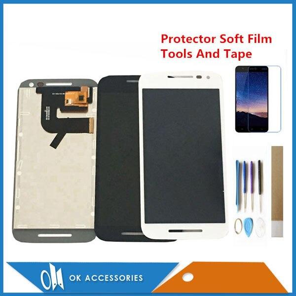 Para Motorola MOTO G 3rd Gen XT1542 G3 XT1544 XT1550 XT1540 XT1541 XT1543 Display LCD Com Tela de Toque Black White kits
