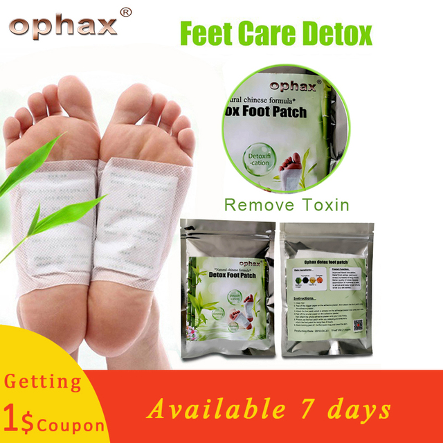 OPHAX Body Remove Toxins Feet Slimming Patch Chinese Medicine Improve Sleep Detox Foot Patch (5Pairs Patches+10pcs Adhesives)