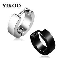 f78fe7348841 YIKOO 1 par de acero inoxidable moda Punk pendiente Anti-alérgica aro  Piercing círculo pendientes para las mujeres de los hombre.