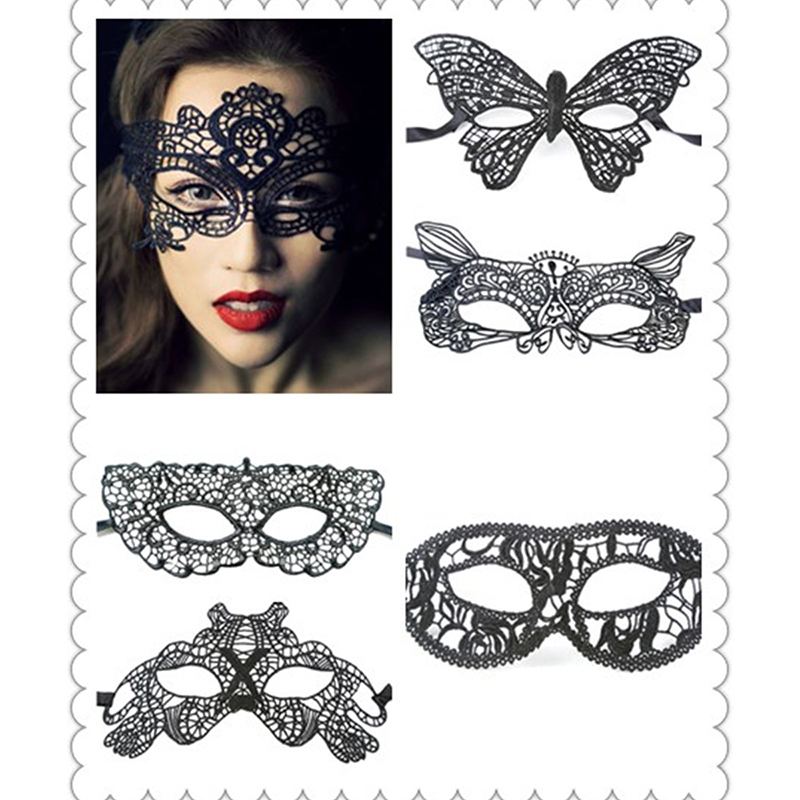 1 Pc 2016 New Black Sexy Beauty Fancy Dress Lace Tempting Mask Masquerade Ball Prom Hall ...