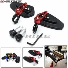 Universal  7/8 22mm handle bar motorcycle end mirror Motorcycle Mirror for Kawasaki z800 z750 z250 z1000 er6n er6f